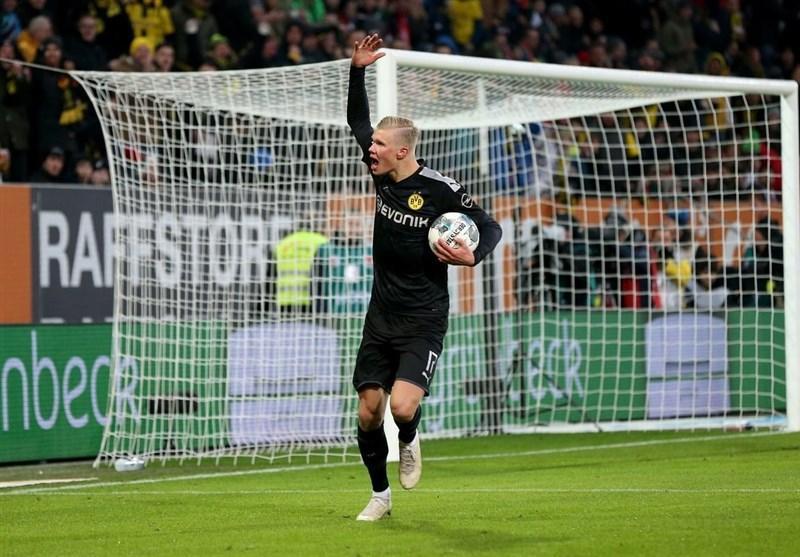 بوندس لیگا، پیروزی پرگل دورتموند مقابل آگزبورگ با شروع رؤیایی بازیکن جدید، هالند در اولین بازی اش هت تریک کرد