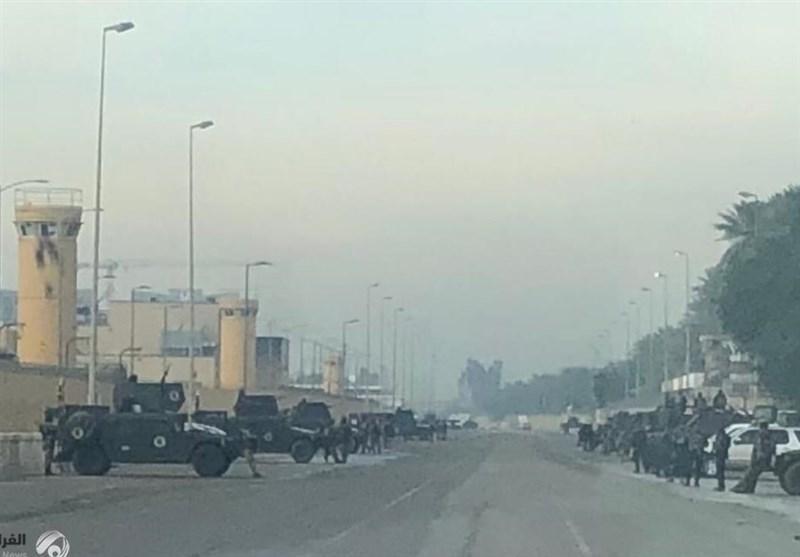 یک فرمانده حشد شعبی: موشک باران سفارت شرارت(آمریکا) کار گروه های مقاومت نیست