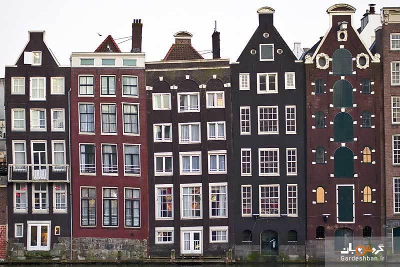 تاریخچه ای مختصر درباره خانه های باریک کانال آمستردام، عکس