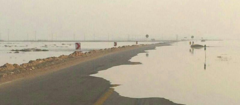 خبرنگاران جاده ساحلی گناوه - بوشهر مسدود شد