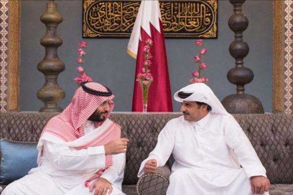 خبرنگاران نخستین تماس تلفنی امیر قطر با ولیعهد سعودی پس از خاتمه اختلافات