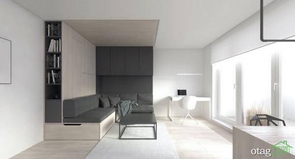 چیدمان منزل با متراژ کم، معرفی دو آپارتمان 30 متری مدرن